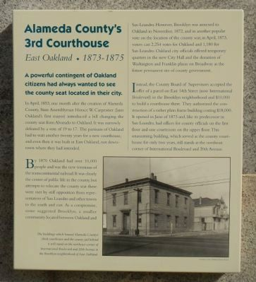 Alameda County's 3rd Courthouse Marker image. Click for full size.