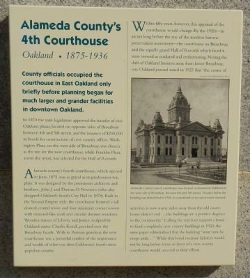 Alameda County's 4th Courthouse Marker image. Click for full size.