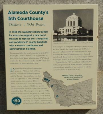 Alameda County's 5th Courthouse Marker image. Click for full size.