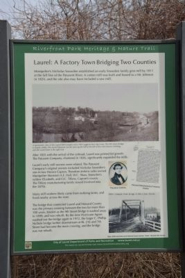 Laurel: A Factory Town Bridging Two Counties Marker image. Click for full size.