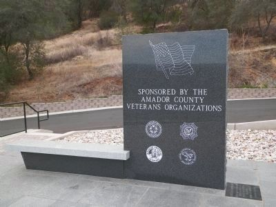 Amador County Veterans' Memorial Marker image. Click for full size.