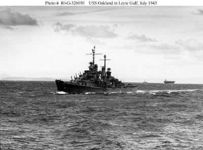 USS Oakland CL-95 image. Click for full size.