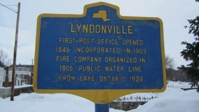 Lyndonville Marker image. Click for full size.