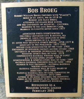 Bob Broeg Marker image. Click for full size.