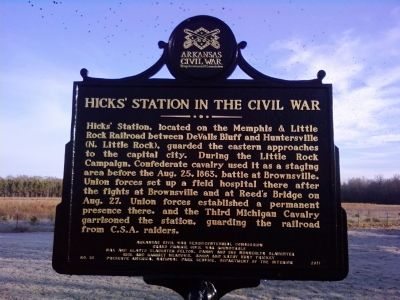 Hicks' Station in the Civil War Marker image. Click for full size.