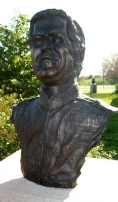 "Bust of Russell William ""Rusty"" Wallace image. Click for full size."