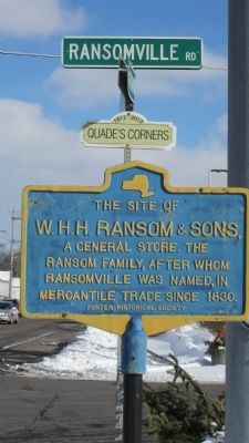 The Site of W.H.H. Ransom & Sons, a General Store. Marker image. Click for full size.