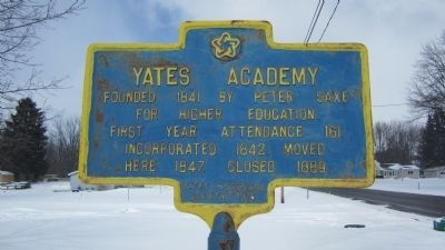 Yates Academy Marker image. Click for full size.