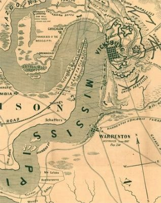 Vicksburg Area Map During Civil War image. Click for full size.