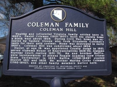 Coleman Family Marker image. Click for full size.