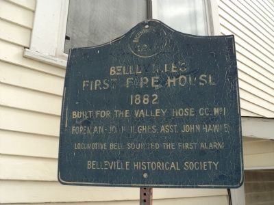 Belleville First Fire House Marker image. Click for full size.