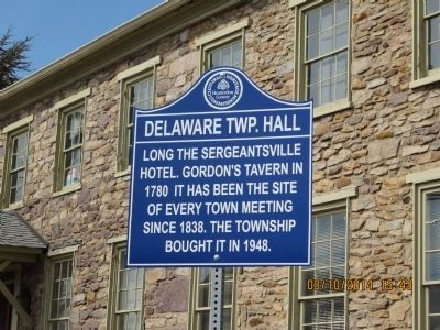Delaware Twp. Hall Marker image. Click for full size.