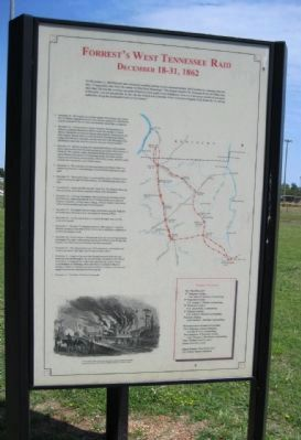 Forrest's West Tennessee Raid Marker image. Click for full size.