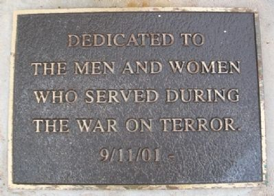 War on Terror Memorial Marker image. Click for full size.