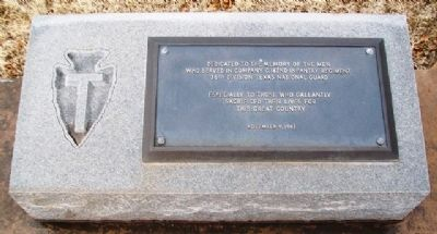 Company C, 142nd Infantry Regiment, 36th Division Memorial Marker image. Click for full size.