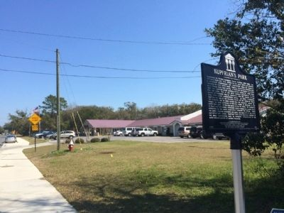 Marker & Pensacola Health Care Facility in background. image. Click for full size.