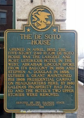 The De Soto House Marker image. Click for full size.