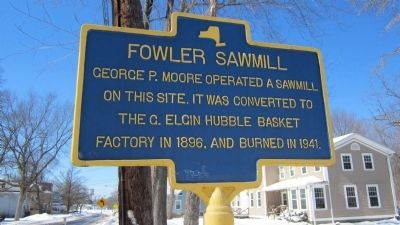 Fowler Sawmill Marker image. Click for full size.
