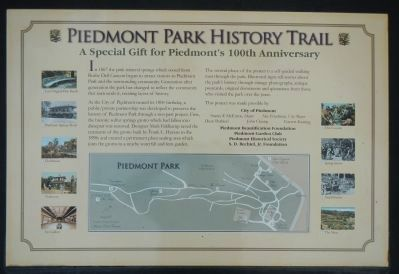 Piedmont Park History Trail Marker image. Click for full size.