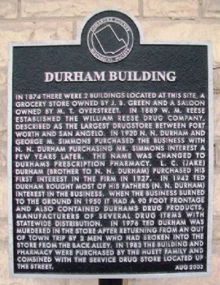 Durham Building Marker image. Click for full size.