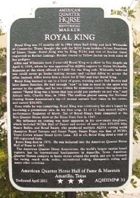 Royal King Marker image. Click for full size.