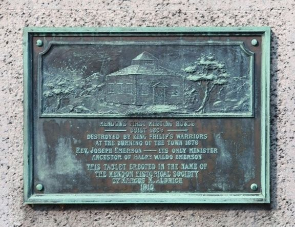 Founders' Park Marker- Rear image. Click for full size.