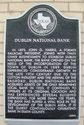 Dublin National Bank Marker image. Click for full size.