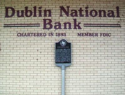 Dublin National Bank and Marker image. Click for full size.
