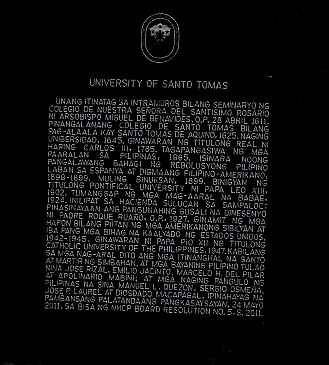 University of Santo Tomas Marker image. Click for full size.