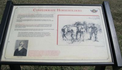 Confederate Horseholders Marker image. Click for full size.