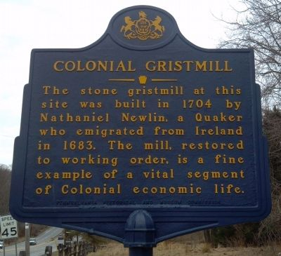 Colonial Gristmill Marker image. Click for full size.