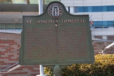 St. Joseph's Hospital Marker (2014) image. Click for full size.