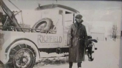 Jack Leiva with his 28 Dodge Truck image. Click for full size.