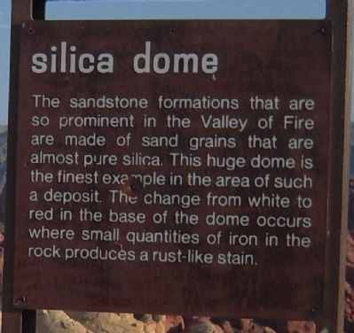 Silica Dome Marker image. Click for full size.