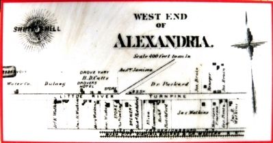 West End Alexandria -- C.M. Hopkins, 1879 image. Click for full size.