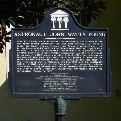 Astronaut John Watts Young Marker image. Click for full size.