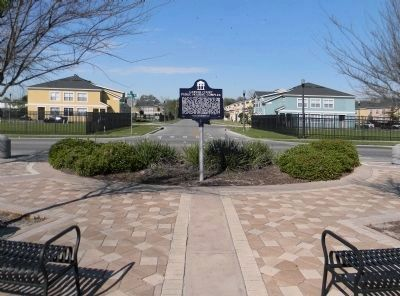 Wide view of the Carver Court Public Housing Complex Marker image. Click for full size.