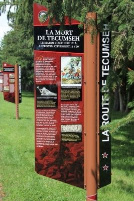 The Death of Tecumseh Marker image. Click for full size.