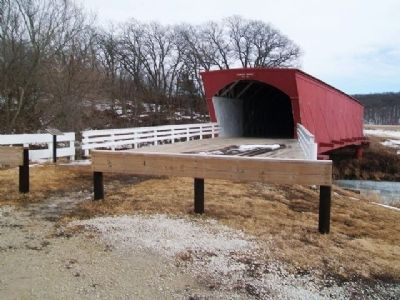 Hogback Covered Bridge and Marker image. Click for full size.