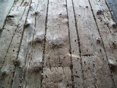 Hogback Covered Bridge's Well-Worn Floor Planks image. Click for full size.