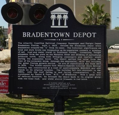 Bradenton Depot Marker image. Click for full size.