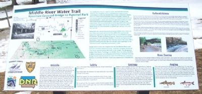 Middle River Water Trail Marker image. Click for full size.