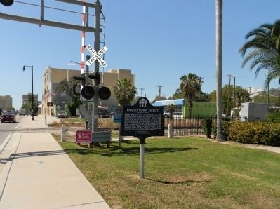 Wide view of the Bradenton Depot Marker image. Click for full size.