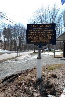 Camp Wabash Marker in 2014 image. Click for full size.