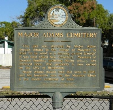 Major Adams Cemetery Marker image. Click for full size.