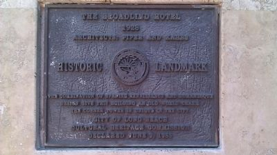 The Broadlind Hotel Marker image. Click for full size.