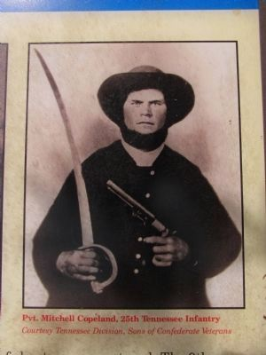 Pvt. Mitchell Copeland, 25th Tennessee Infantry image. Click for full size.