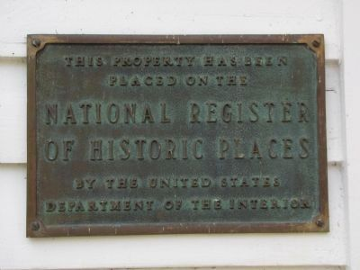 Pleasant Hill NRHP plaque image. Click for full size.