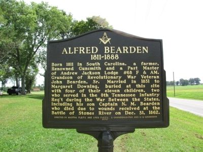 Alfred Bearden Marker image. Click for full size.