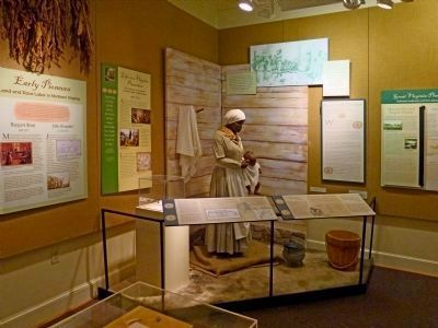 Exhibits in the Alexandria Black History Museum image. Click for full size.
